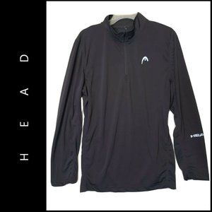 Head Men's Long Sleeves Sports Shirt Gray Medium